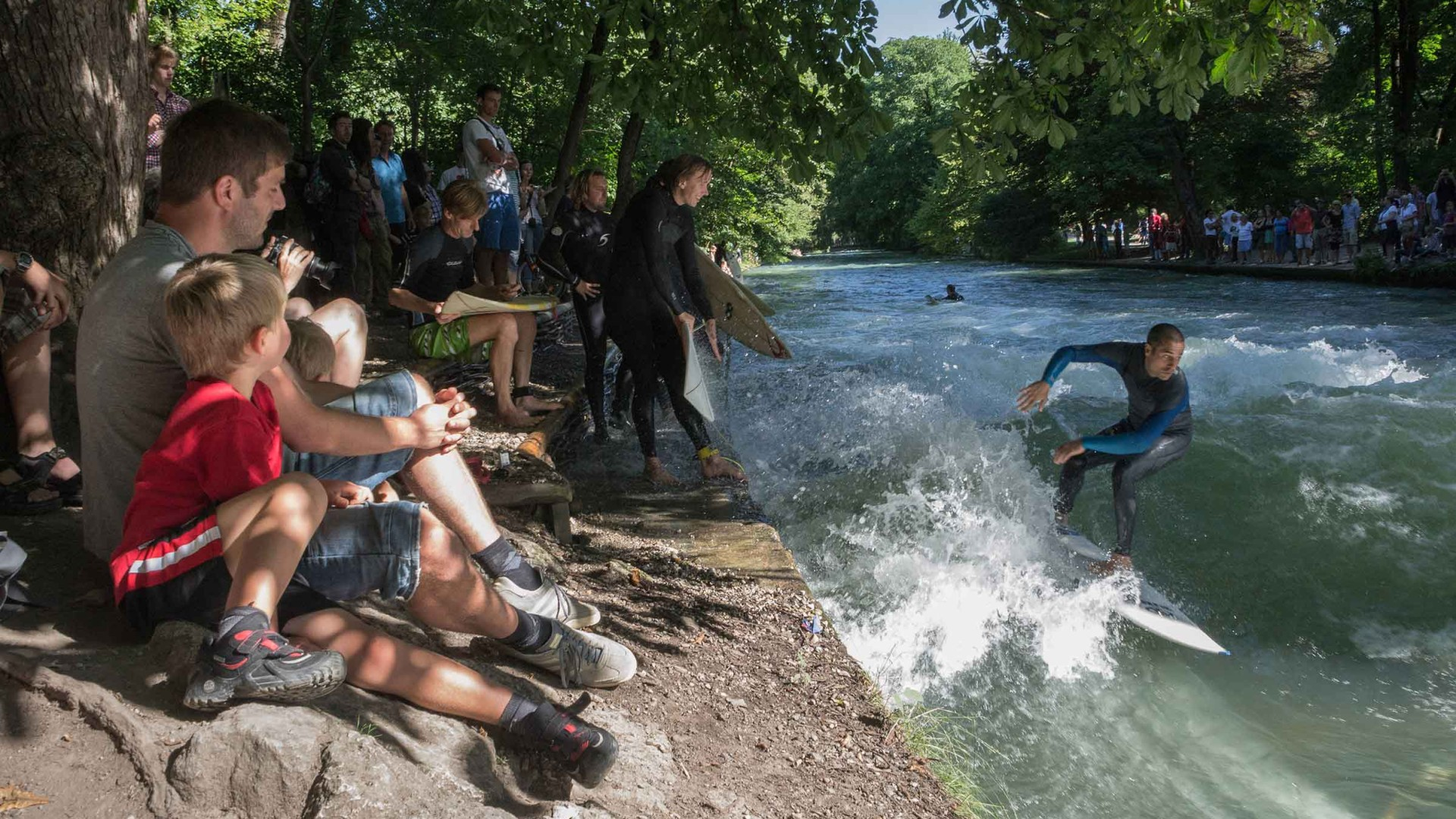 Surfing at Eisbach