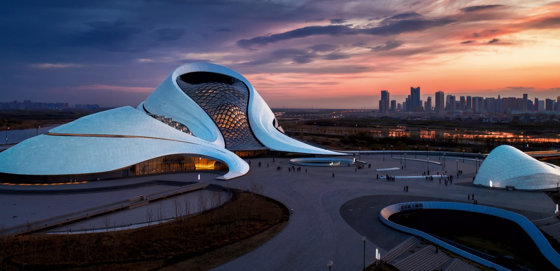 Harbin in the northwest of the country is a new cultural center with a lavish opera house